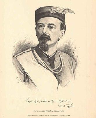 Miroslav Tyrš - Portrait by Jan Vilímek