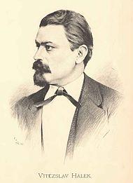 Portrét Vítězslava Hálka od Jana Vilímka
