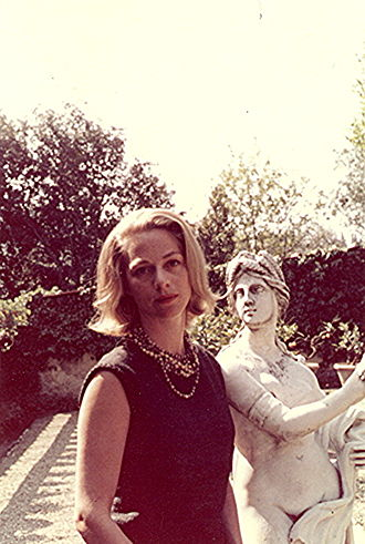 Janet Cox-Rearick - Among the first class of Fellows at Villa I Tatti. Photo taken at the Villa in May 1963.