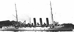 1st Special Squadron (Japanese Navy) - Image: Japanese cruiser Tsushima