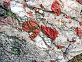 Jasper-quartz pebble conglomerate (Lorrain Formation, Paleoproterozoic, ~2.3 Ga; Ottertail Lake Northeast roadcut, near Bruce Mines, Ontario, Canada) 60 (40743212423).jpg