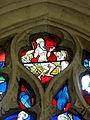 Jaux (60), église Saint-Pierre, collatéral sud, verrière n° 4, détail - Résurrection du Christ.JPG