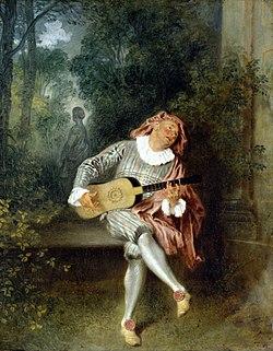 WATTEAU Jean Antoine Mezzetin c.1718-20