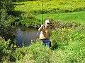 Jeannine et les truites de ruisseaux - panoramio.jpg