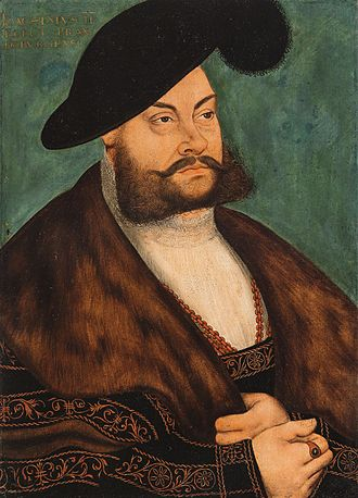 Joachim II Hector, Elector of Brandenburg, painted by Lucas Cranach the Elder JoachimII.vonBrandenburg.JPG