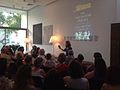 Joanna Connely - Parthenon Enigma book launch - Pharos Arts Foundation - The Shoe Factory 2014.jpg