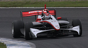João Paulo de Oliveira - De Oliveira during practice for the first Motegi round of the 2010 Formula Nippon season, where he won from pole position with fastest lap.