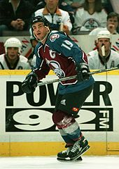 170px-Joe_Sakic_1997 Joe Sakic Colorado Avalanche Joe Sakic Quebec Nordiques