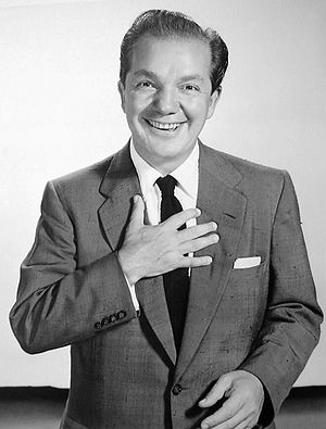 Joey Adams - Adams as the host of the radio show Spend a Million, in 1954.