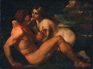 Johann Carl Loth - Eve Tempting Adam, National Gallery of Canada