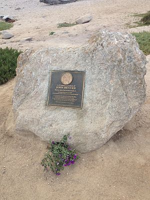 John Denver - The plaque marking the location of Denver's plane crash in Pacific Grove, California