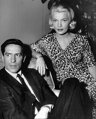 John Cassavetes - Cassavetes with his wife Gena Rowlands