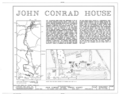 John Conrad House, Sheidy Road (Penn Township), Mount Pleasant, Berks County, PA HABS PA,6-MTPLES.V,3- (sheet 1 of 6).png