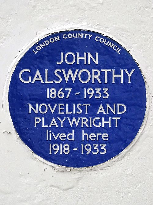 John galsworthy 1867 1933 novelist and playwright lived here 1918 1933