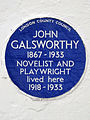 John Galsworthy 1867-1933 Novelist and Playwright lived here 1918-1933.jpg