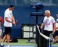 John Isner (USA)-John McEnroe (USA) (21238613278).jpg
