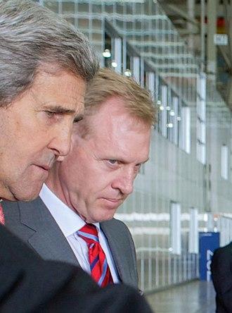 Patrick M. Shanahan - Image: John Kerry and Pat Shanahan