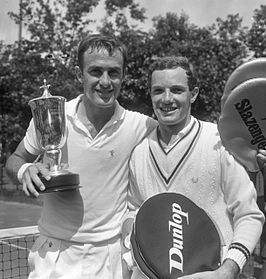 John Newcombe and Tom Okker 1965.jpg