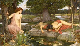 Echo (mythology) - Echo and Narcissus (John William Waterhouse, 1903, Walker Art Gallery, Liverpool)