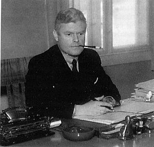 Jonas Lie (government minister) - Jonas Lie as a police chief before World War II.