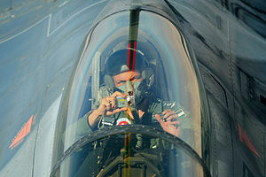 Jordanian Air Force F-16 Fighting Falcon pilot.jpg