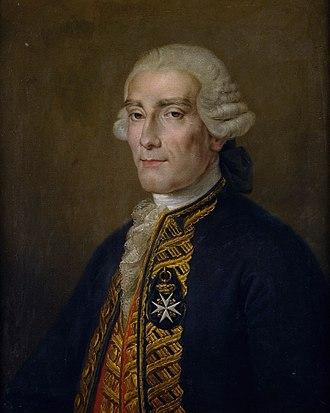 Jorge Juan y Santacilia - Portrait by Rafael Tegeo