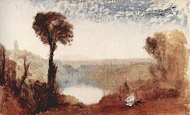 William Turner, Il lago di Nemi, olio su tela, ca. 1828.