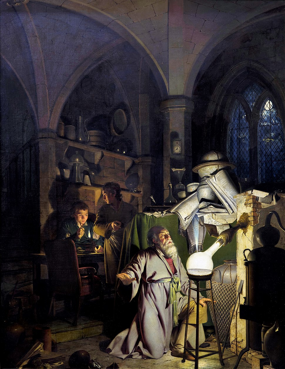 Joseph Wright of Derby The Alchemist