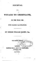 George William Manby: Journal of a Voyage to Greenland, in the Year 1821