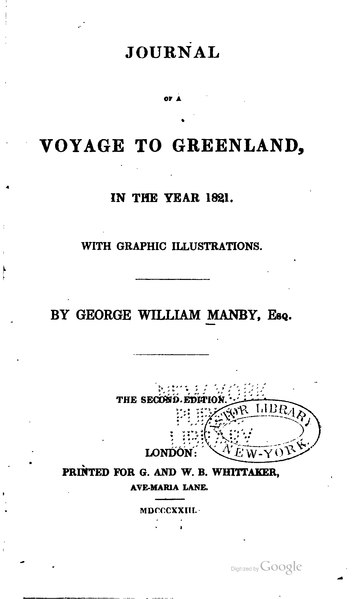 File:Journal of a Voyage to Greenland, in the Year 1821.djvu