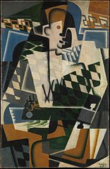 Harlequin with a Guitar