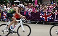 Jubilant fans cheer on triathletes (7741300024).jpg