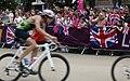 Jubilant fans cheer on triathletes (7741300024).jpg