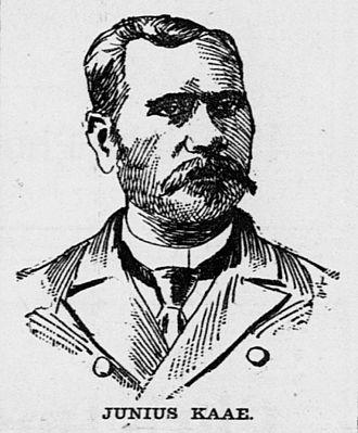 Junius Kaʻae - Image: Junius Kaae, Advertiser sketch, 1906