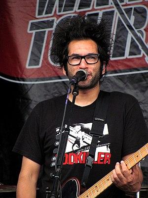 Justin Pierre - Justin Pierre performing at Warped Tour on July 3, 2010.