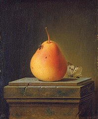 Still Life with Pear and Insects