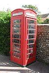 K6 Telephone Kiosk en Vicarage Lane, Rottingdean (IoE Code 481420).JPG