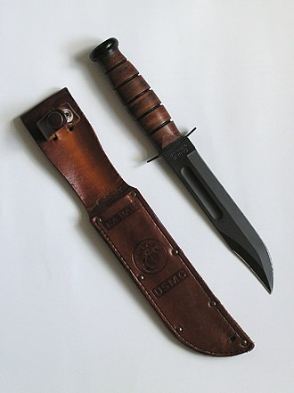"Combat knife - ""KA-BAR""  USMC Combat Knife,  the standard U.S. Marine Corps combat knife during and after World War II"