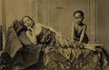 KITLV 182332 - Kassian Céphas - Young woman can be massaged by a child in Java - Around 1895.tif