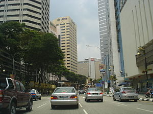 Jalan Raja Laut - The stretch along the MARA building.