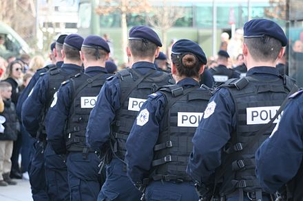 The Kosovan Police (Policia e Kosoves) is the main law enforcement agency in Kosovo. KP-PK During Kosovo Independence Parade.JPG