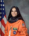 Kalpana Chawla, NASA photo portrait in orange suit.jpg