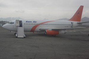 Kam Air Flight 904 - A Kam Air Boeing 737-200 at Kabul International Airport, Afghanistan, in 2007 similar to the aircraft involved in the accident.