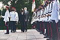 Kamala Harris and Lee Hsien Loong inspecting the hnour guards in the Istana.jpg