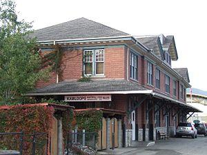 Kamloops station - Image: Kamloops railway station, October 2011