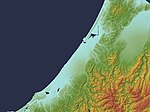 Kanazawa Plain Relief Map, SRTM-1.jpg