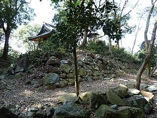 Castle ruins in Gifu, Japan