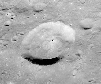 Kant (crater) - Oblique Apollo 16 image, facing west