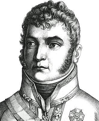 """Karl Philipp, Prince of Schwarzenberg - Engraving from """"Zweihundert deutsche Männer in Bildnissen und Lebensbeschreibungen"""", by Ludwig Bechstein, 1854"""