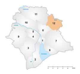 Karte Zürcher Stadtkreis 12